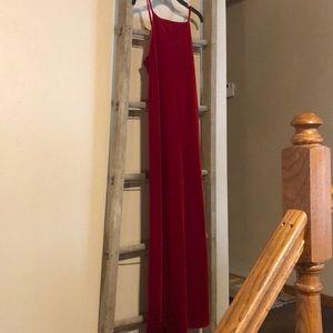 Red velvety dress